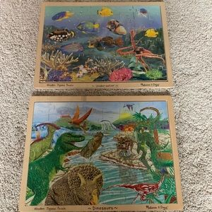 Other - Melissa and Doug wooden puzzles